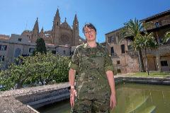 La capitán del Cuerpo de Intendencia de la Comandancia de Baleares, Nuria García Sevillano.