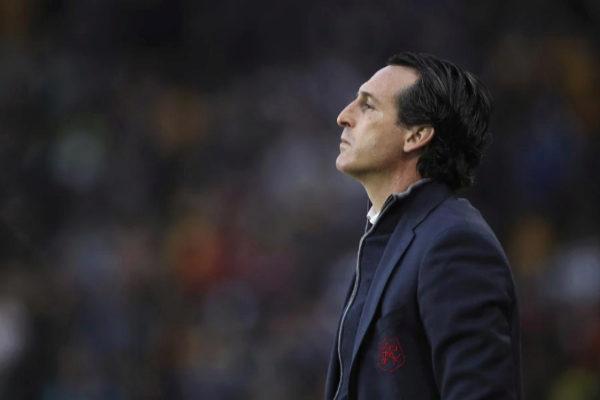 Unai Emery, durante un partido del Arsenal.