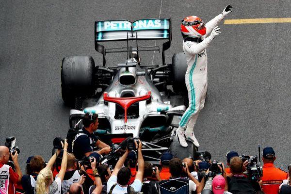 Hamilton, tras su triunfo del domingo en Mónaco.
