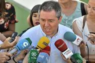 El alcalde de Sevilla y candidato del PSOE a la reelección, Juan Espadas.