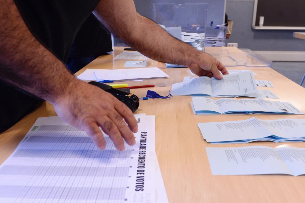 Recuento de votos en las elecciones municipales