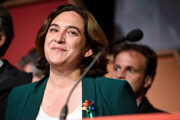 Barcelona's outgoing mayor and 'Barcelona En Comu' candidate for...