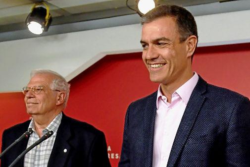 Pedro Sánchez y Josep Borrell, en la valoración de resultados