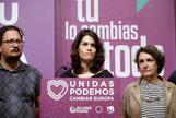 Isabel Serra, candidata de Unidas Podemos a la Comunidad de Madrid, comparece tras los malos resultados.