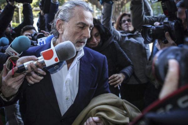 Francisco Correa, a su llegada en 2017 a los juzgados de Valencia.