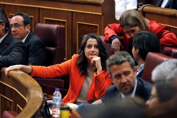 Inés Arrimadas, en el pleno de constitución del Congreso.