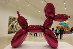 'Perro Globo' del artista Jeff Koons que se exhibe en la Ciudad de México.