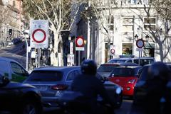 Una de las calles del área restringida de Madrid Central.