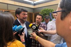 Luis Barcala (PP), este lunes en el Ayuntamiento.