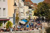 Paseo conocido como la Riviera junto al río Aare, en Solothurn.