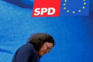 La líder de los socialdemócratas alemanes, Andrea Nahles.