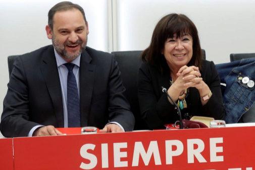 José Luis Ábalos y Cristina Narbona, en la Ejecutiva Federal del PSOE tras las elecciones del 26-M