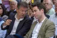 Rafael Catalá y Teodoro García Egea, en un acto del PP en campaña