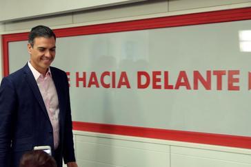 GRAF8902. MADRID.- El presidente del Gobierno en funciones, <HIT>Pedro</HIT> <HIT>Sánchez</HIT>, en la sede del PSOE en Madrid, donde ha valorado los resultados electorales de este domingo.