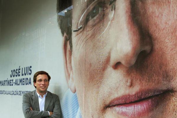 Martínez-Almeida, candidato del PP a la Alcaldía, en la sede de Génova.