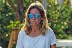 La ex tenista Arantxa Sánchez Vicario por las calles de Miami.