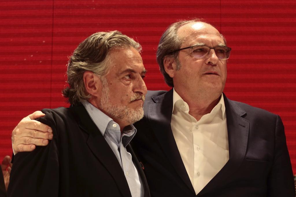 Ángel Gabilondo y Pepu Hernández, la noche electoral.