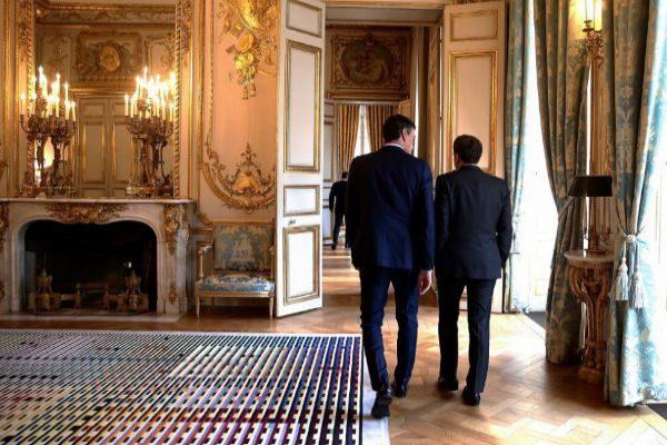 Encuentro de Pedro Sánchez y Emmanuel Macron.