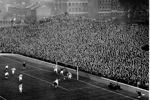 Highbury, el viejo estadio del Arsenal, en 1950.