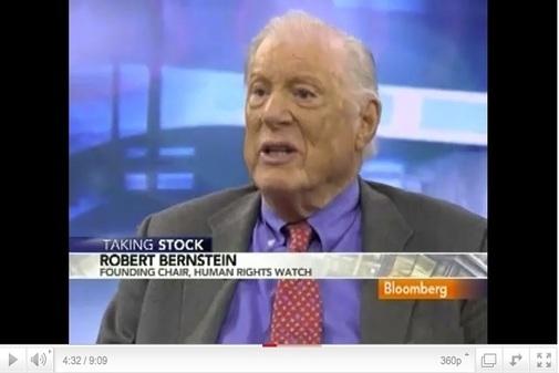 Captura de pantalla de Robert Bernstein, editor y fundador de Human Rights Watch.
