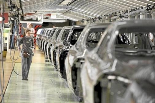 Imagen de la fábrica de Renault en Villamuriel de Cerrato Palencia.