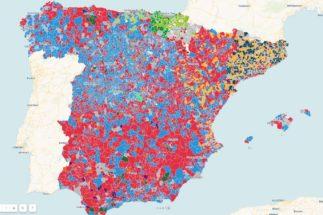 Mapa municipal de los resultados de las elecciones