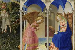 <HIT>Fra</HIT> <HIT>Angelico</HIT>. La Anunciación 1425 - 1426. Témpera sobre tabla, 190,3 x 191,5 cm. Copyright de la imagen ©Museo Nacional del Prado