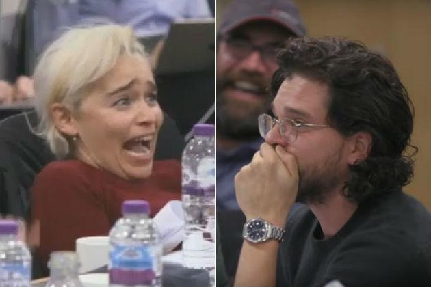 Emilia Clarke y Kit Harington en el documental Juego de Tronos: La...