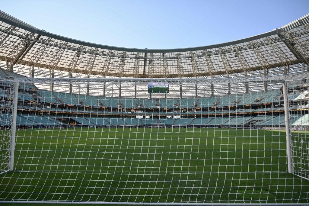 Estadio de Baku donde se celebra la final de la Europa League entre Arsenal y Chelsea