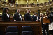 Oriol Junqueras, durante la constitución del Congreso de los Diputados