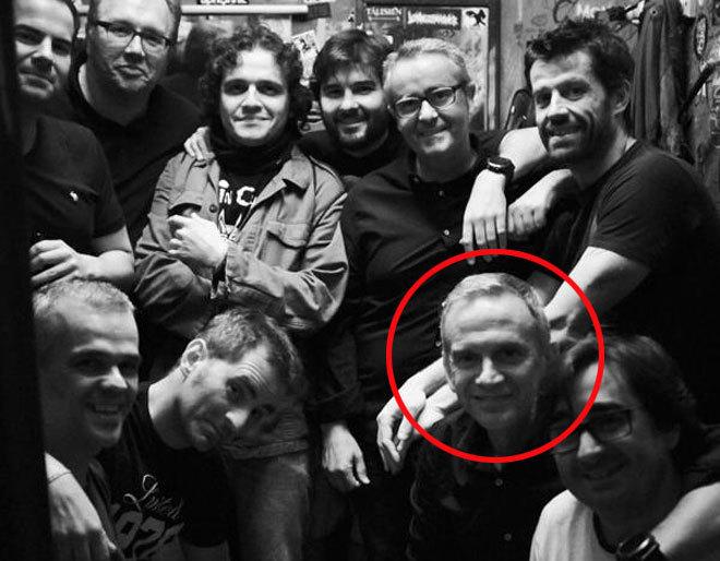 La banda Prime Ministers, de la que Carlos Crespo (en el círculo rojo), es el teclista.