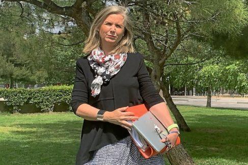 La mosso Inma Alcolea en Hospitalet de Llobregat la pasada semana