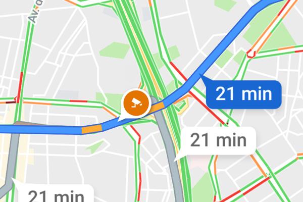 Google Maps ya señala los radares de carretera