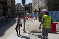 Obras del metro Sevilla de la linea 2 de Madrid