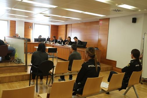 Momento de la vista durante el juicio.