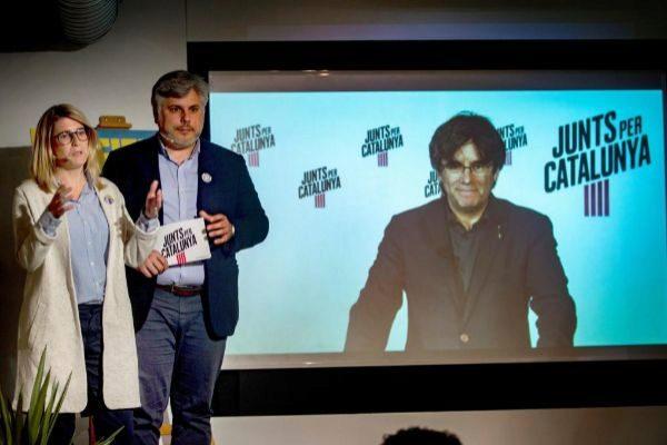Carles Puigdemont en una videoconferencia.