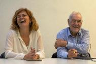 Ernest Maragall y Elisenda Alamany, durante una reunión de ERC