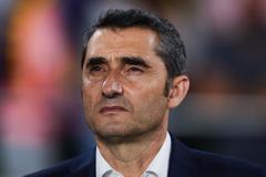 Valverde, técnico del Barcelona, en la pasada final de Copa.