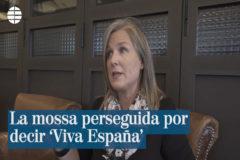 """Perseguida por decir """"Viva España"""""""