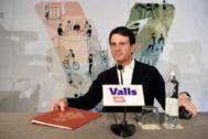 Manuel Valls durante la rueda de prensa de esta mañana en Bacelona.