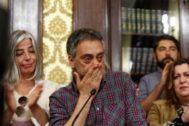 Xulio Ferreiro, en la rueda de prensa en la que dio a conocer su retirada.