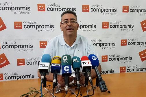 Jordi Moliner, concejal destituido, ha comparecido este miércoles para decir que no recogerá el acta como concejal electo de Compromís.
