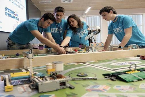 Catalunya Barcelona Campeonato de Robots Firts Lego League en la Escuela de Ingenieria de Barcelona del año pasado.
