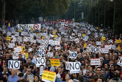 Manifestación de 'Rodea el Congreso' en Madrid en 2016