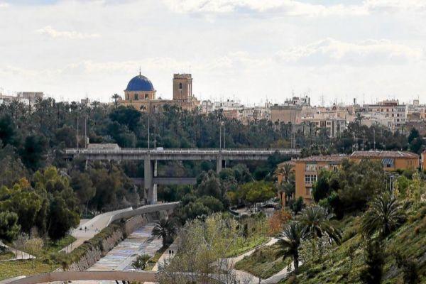 Vista panorámica de la ciudad de Elche.