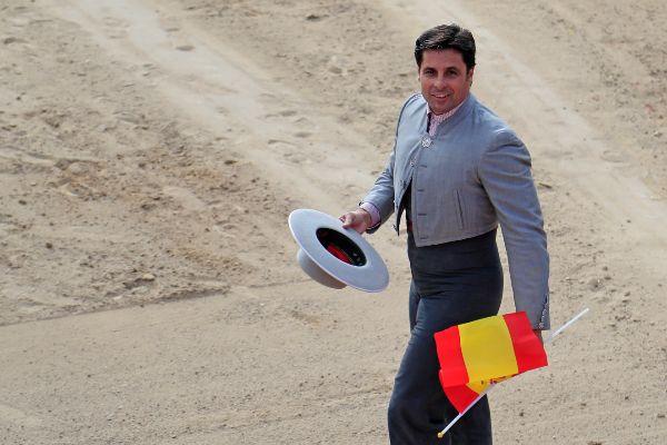 El torero Fran Rivera durante el festival taurino de Villar del Olmo...