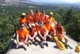 Alumnos del campamento de verano de idiomas de 'Juventud y Cultura' en San Lorenzo de El Escorial