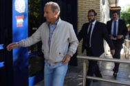 'Petón', el miércoles, en la comisaría de Policía de Huesca.