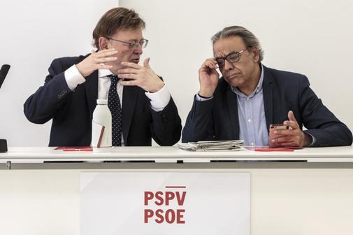 El presidente de la Generalitat y secretario general del PSPV-PSOE, Ximo Puig, en la Comisión Ejecutiva Nacional del partido en la que se analizaron los resultados de las elecciones locales y europeas del 26 de mayo