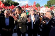 Josep Borrell, Pedro Sánchez, Ángel Gabilondo y Pepu Hernández.